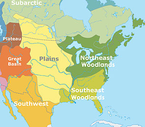 Eastern Woodland Indians Tribes Maps http://www.nativefluteswalking.com/woodlands-flute-native-american.shtml