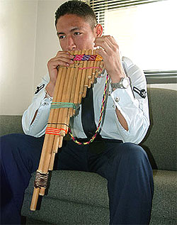 Modern Indigenous musicians are still playing traditional Andean panpipes to this day